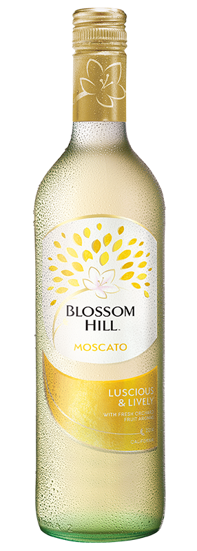 Bottle of Blossom Hill Moscato sweet white wine
